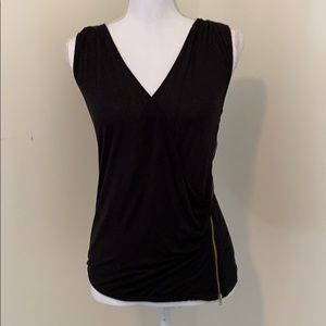 Black G by Guess Cross Front Zip Top!